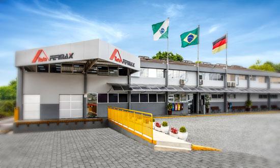 Sede da Roto Fermax na cidade de Colombo, Paraná, Brasil.